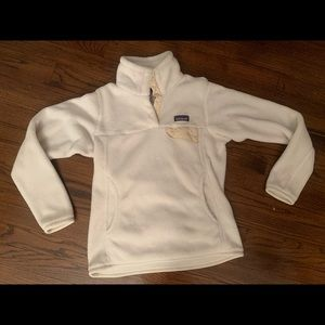 White Patagonia Re-Tool Snap-T Pullover